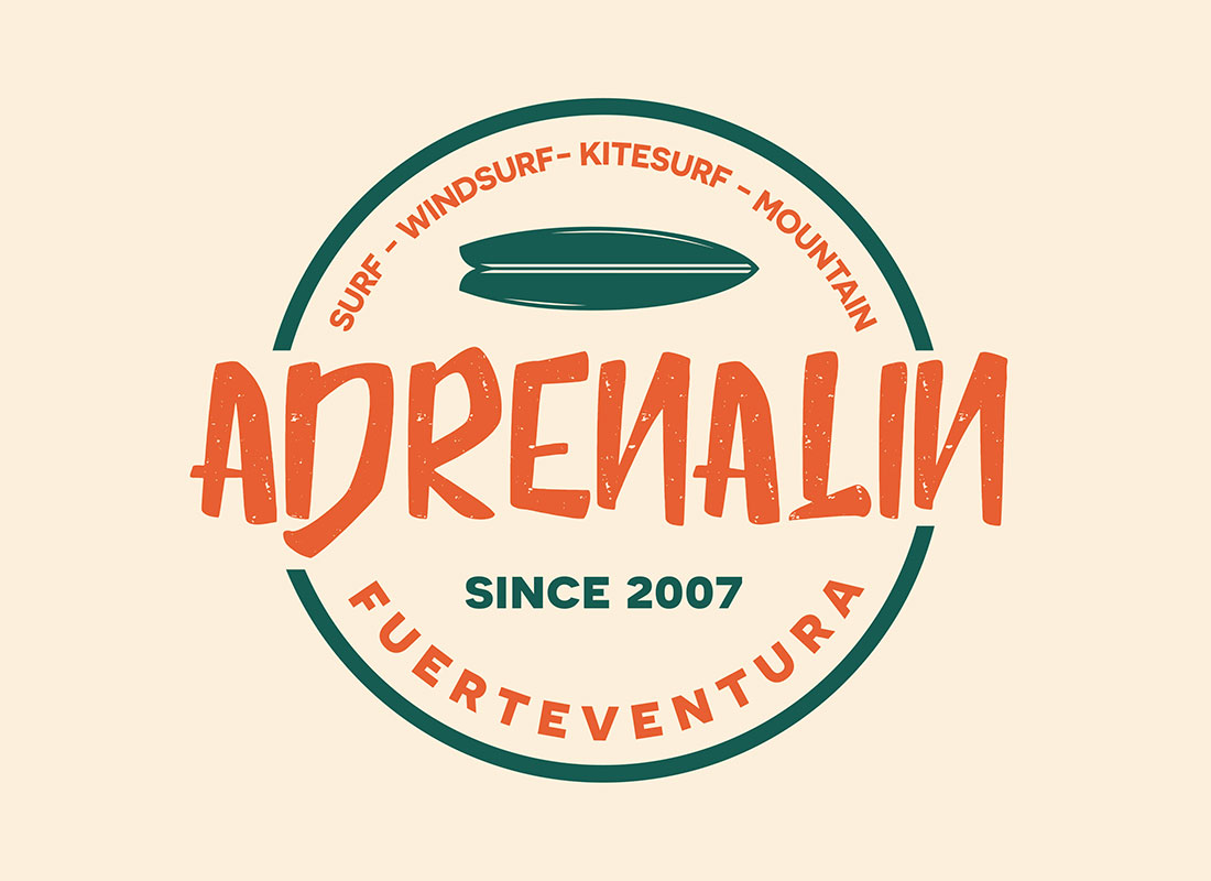 Diseño de logo Adrenalin
