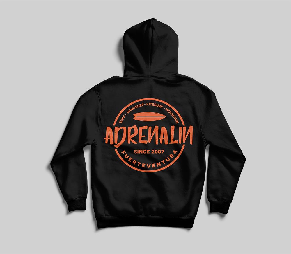 Branding sudadera Adrenalin