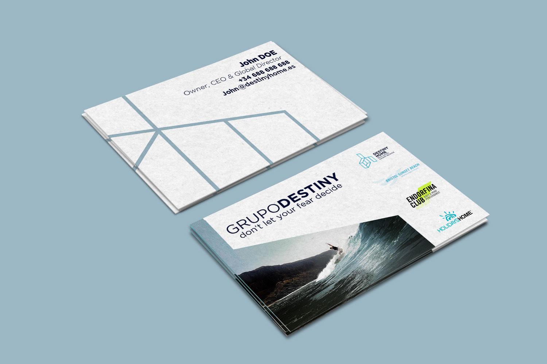 Diseño gráfico tarjetas de visitas Destiny Home