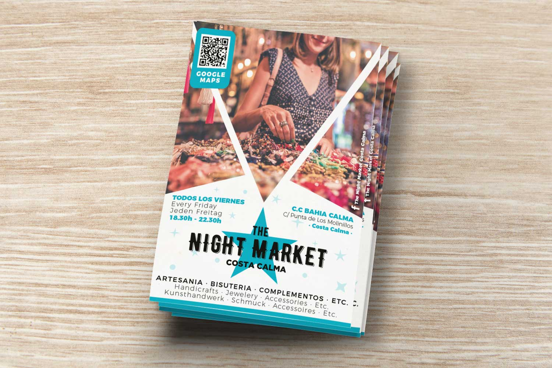 Impresión folletos night market